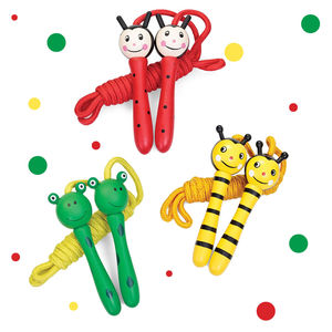 Painted Wooden Animal Skipping Ropes