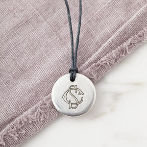 Personalised Silver Hidden Message Monogram Pendant