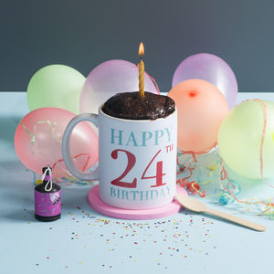 Personalised Mug Cake Birthday Gift Set - 21st birthday gifts