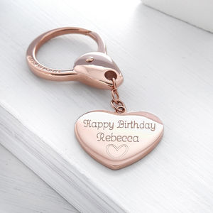 Personalised Heart Keyring - keyrings
