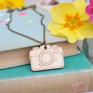 Wooden Camera Necklace - more