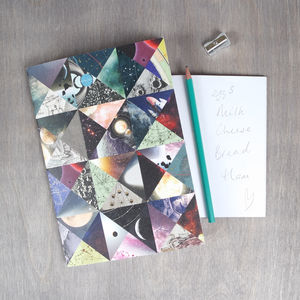 Patchwork Space Pocket Notebook - shop by price