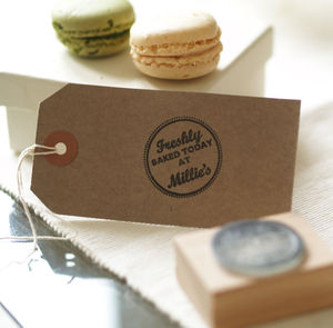 'Freshly Baked Today By…' Rubber Stamp - gifts for bakers