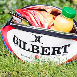 Licensed Personalised England Rugby Ball Lunch Bag - personalised