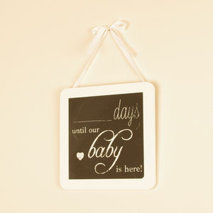 Baby Countdown Chalk Board Wall Hanging - storage & organisers