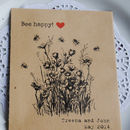 Bee Happy Recycled Seed Packet Wedding Favour