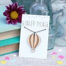 Wooden Hot Air Balloon Necklace