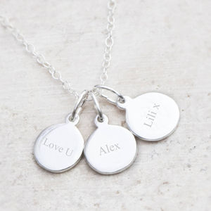 Engraved Sterling Silver Charm - personalised jewellery