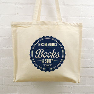 Personalised Teacher Tote Bags - gifts for teachers