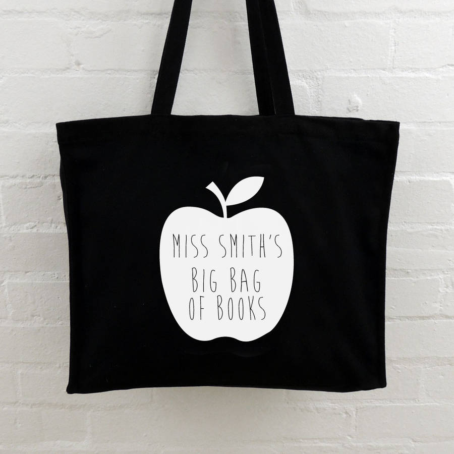 personalised teacher tote bags by able labels | notonthehighstreet.com