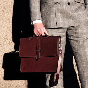 Leather Laptop Briefcase - bags