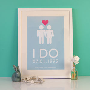 I Do Personalised Wedding Print - canvas prints & art