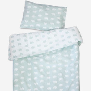 Reversible Bear Cot Bedding Set - cot bedding