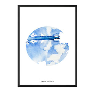 Modern Abstract Watercolour Print, Limited Edition