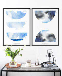 Modern Abstract Watercolour Print Two, Limited Edition - modern & abstract