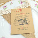 Recycled Chilli Seed Packet Wedding Favour