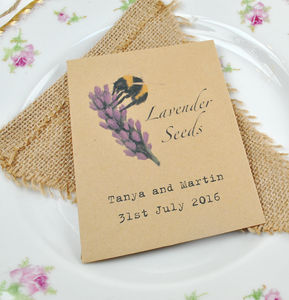 Lavender Seeds For The Bees Recycled Wedding Favour