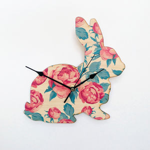 Rose Bunny Clock - spring home updates