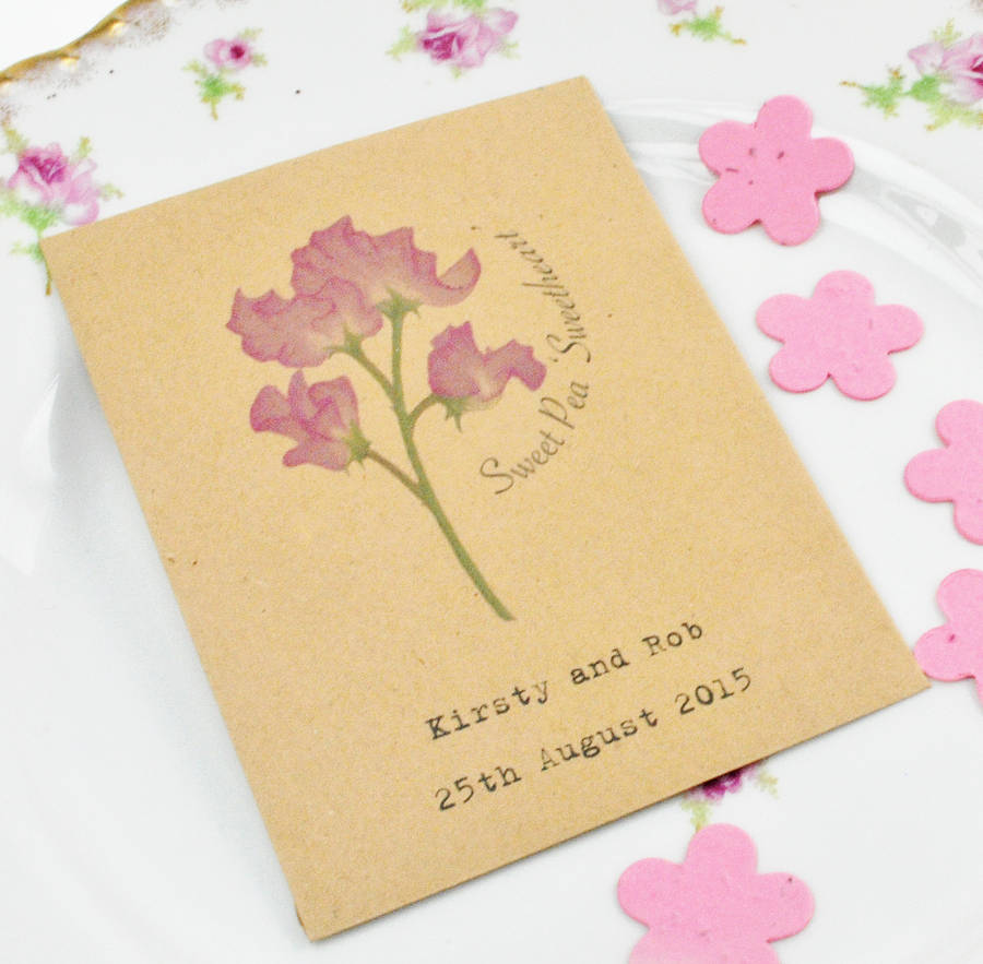 Recycled Sweet Pea Seed Packet