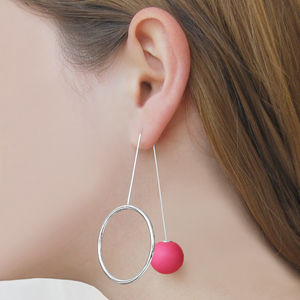 Blush Pink Galaxy Statement Orb Earrings
