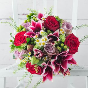 Redcurrant Fresh Flowers Bouquet - flowers & plants