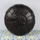 Moroccan Leather Pouffe Cover, Essential Collection