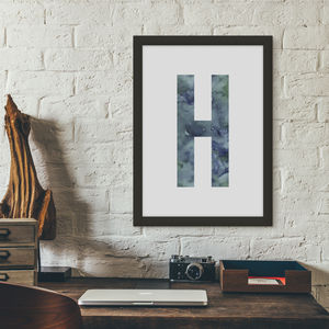 Watercolour Alphabet Initial Letter Print - new in prints & art