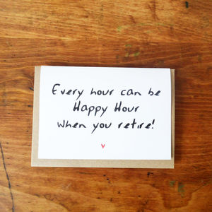 'Happy Hour' Retirement Card - retirement cards