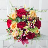 Honeycomb Fresh Flowers Bouquet - home
