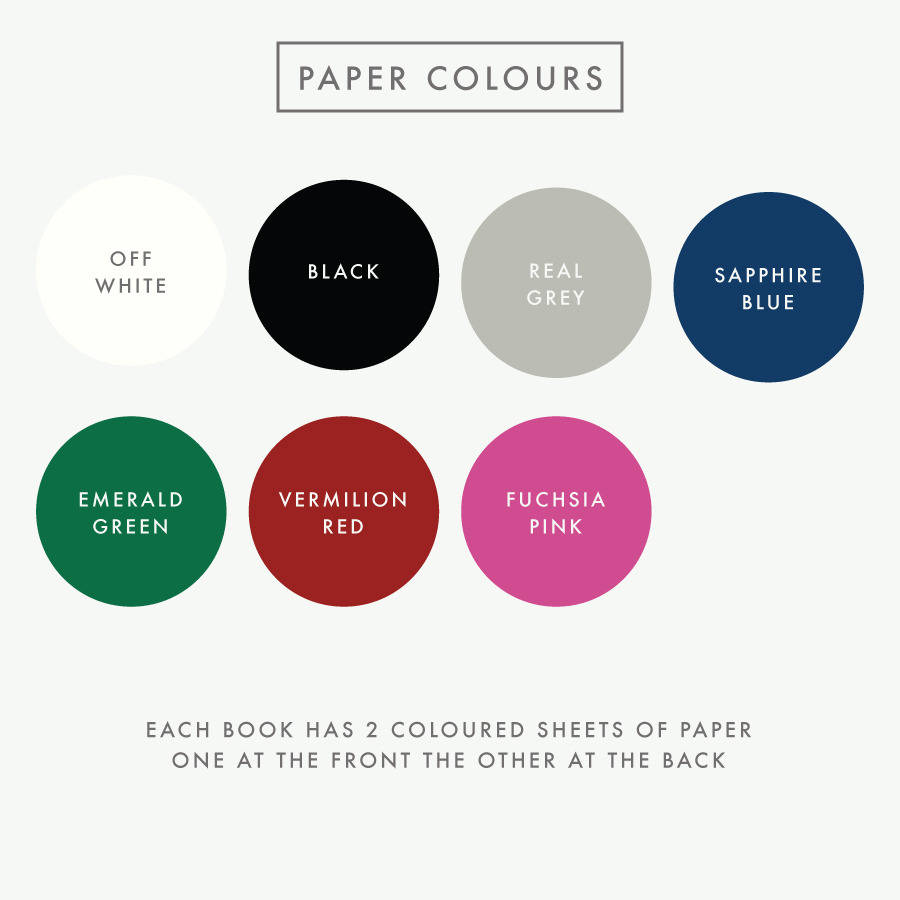 Book colour names - Personalised Heart Guest Book