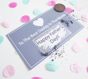 Father's Day Personalised Scratch Card