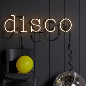 Neon Letter Light - decorative letters