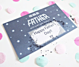 Father's Day You Are My Father Scratch Card