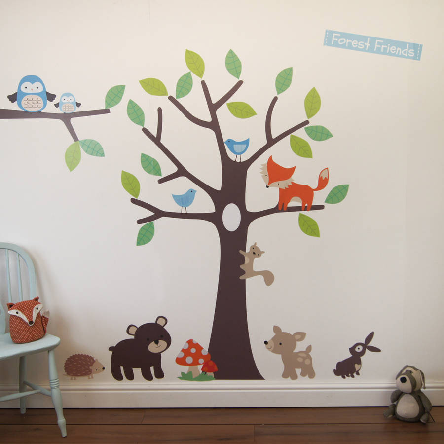 Woodland Tree Wall Stickers By Parkins Interiors