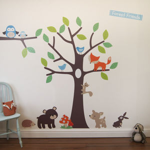 Woodland Tree Wall Stickers - bedroom