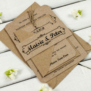 Kraft Wedding Invitation Bundle - wedding stationery