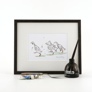 Runner Ducks Print, Four Runners - animals & wildlife