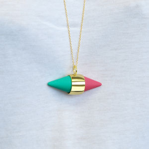 Apple And Raspberry Geometric Necklace - necklaces & pendants