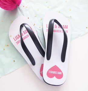 Personalised Wedding Flip Flops - women's