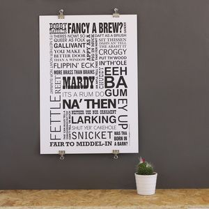 A3 Typographic Dialect Print - posters & prints