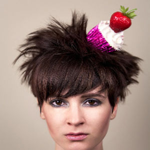 Strawberry Cupcake Fascinator Small - womens