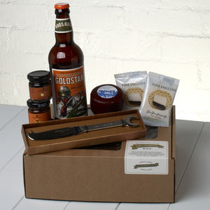 Ploughman's Gift Set And Spanner Cheese Knife - hampers
