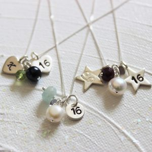 Personalised Celebrate 16th Birthday Necklace
