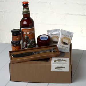 Dad's Ploughman's Gift Set And Spanner Cheese Knife - bread & cheese
