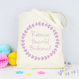 Personalised 'Beautiful Bridesmaid' Tote Bag - hen party styling