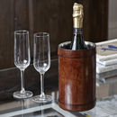 Leather Wine Cooler Single Bottle