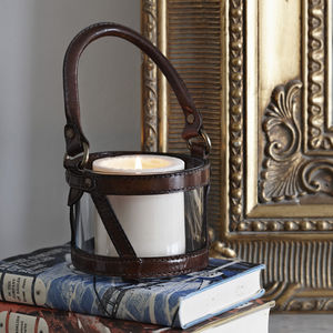 Leather Lantern - garden sale