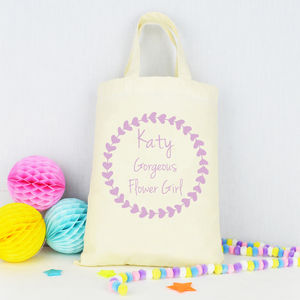 Personalised 'Flower Girl' Tote Bag - for children