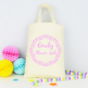 Personalised Flower Girl Tote Bag