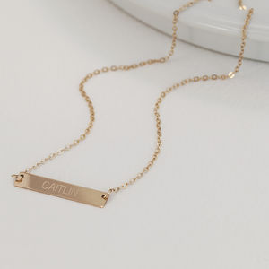Personalised Gold Bar Necklace - gifts for mothers